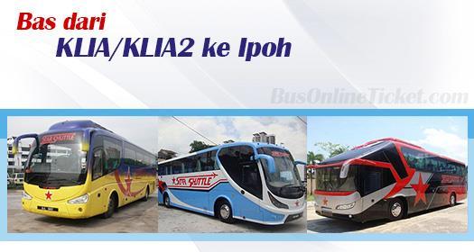 Bas dari KLIA/KLIA2 ke Ipoh