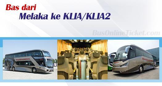 Bas dari Melaka ke KLIA/KLIA2