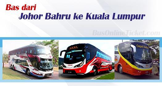 Bas dari Johor Bahru ke Kuala Lumpur