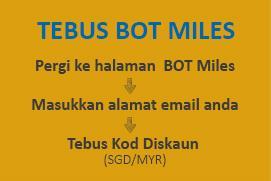 BusOnlineTicket Sistem Mata Kesetiaan Program - Tebus BOT Miles