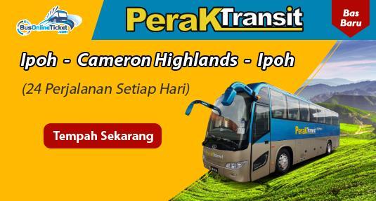 Perak Transit menyediakan bas dari Ipoh ke Cameron Highlands