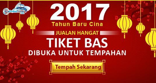 Tiket bas untuk Tahun Baru Cina 2017