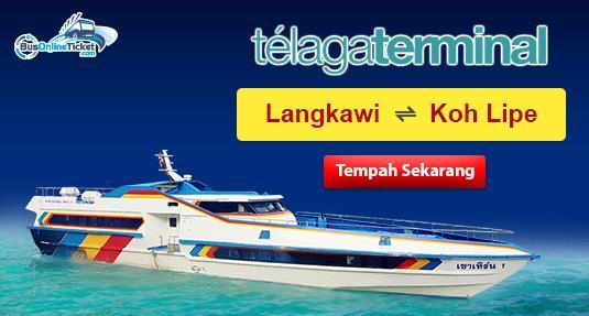 Tiket feri Telaga Terminal dari Langkawi ke Koh Lipe