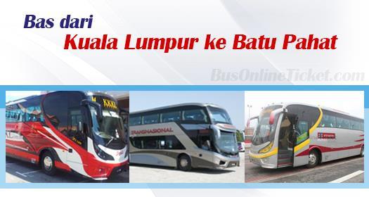Bas dari Kuala Lumpur ke Batu Pahat