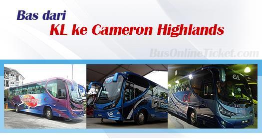 Bas dari KL ke Cameron Highlands