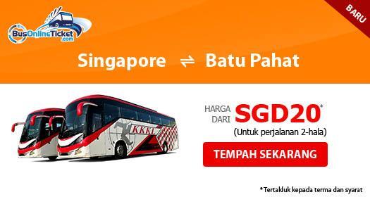 Bas dari Singapura ke Batu Pahat dengan KKKL Express