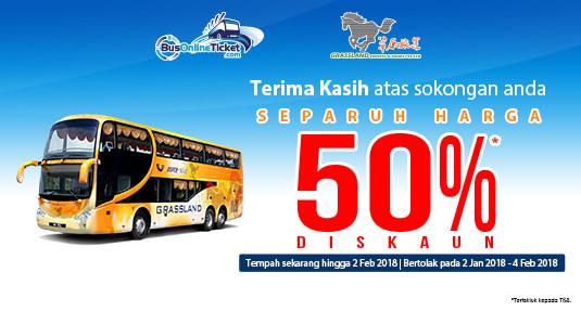 50% Diskaun Grassland Express