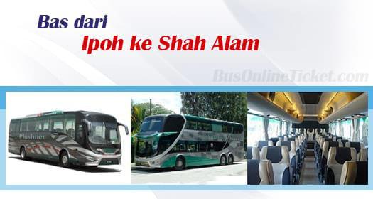 Bas dari Ipoh ke Shah Alam