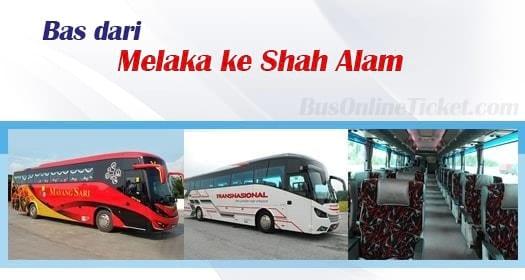 Bas dari Bas dari Melaka ke Shah Alam