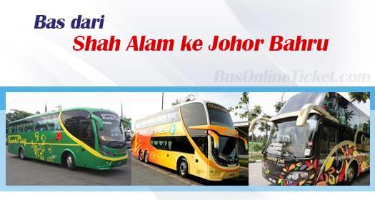 Bas dari Shah Alam ke Johor Bahru