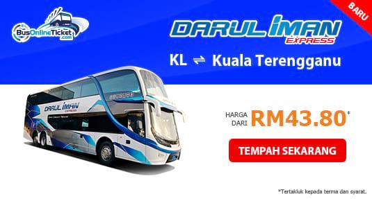 Darul Iman Express bas antara Kuala Lumpur dan Kuala Terengganu
