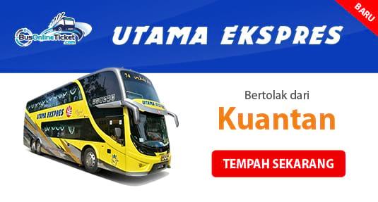 Utama Ekspres bas dari Kuantan di BusOnlineTicket.com