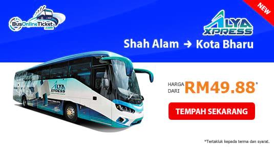Alya Express Bas Dari Shah Alam ke Kota Bharu
