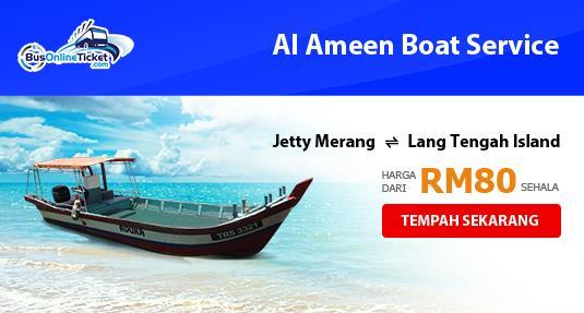 Al Ameen Boat Service Di Antara Jeti Merang dan Pulau Lang Tengah