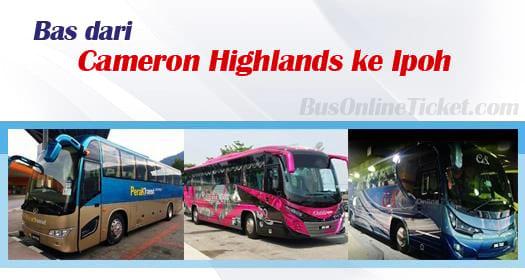 Bas dari Cameron Highlands ke Ipoh