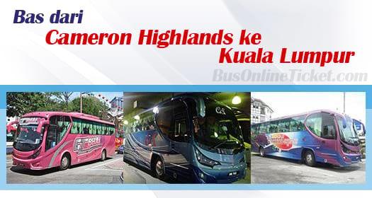 Bas dari Cameron Highlands ke Kuala Lumpur