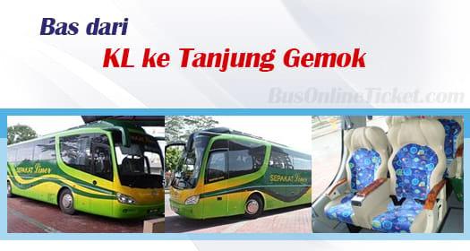 Bas dari KL ke Tanjung Gemok