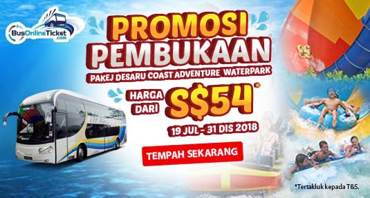 WTS Travel & Tours Menawarkan Promosi Pembukaan Desaru Coast Adventure Waterpark