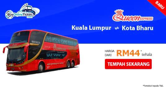 Queen Express menawarkan perkhidmatan bas exspres antara Kuala Lumpur dan Kota Bharu