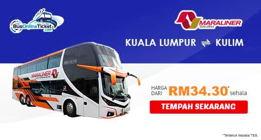 Maraliner Express menawarkan tiket bas antara KL dan Kulim. Tempah sekarang!