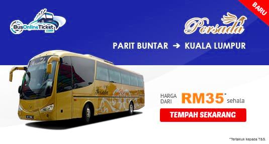 Persada Travel & Tours bas dari Parit Buntar ke KL dari RM35