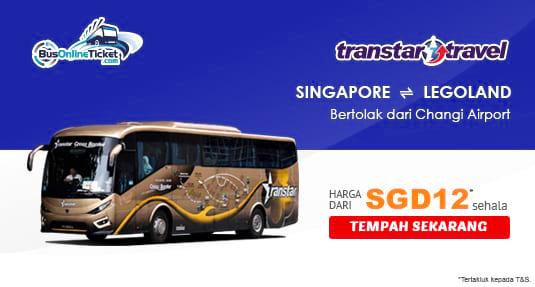 Tiket bas Transtar antara Singapura dan Legoland kini boleh ditempah online