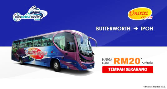 Unititi Express Bus Service from Butterworth to Ipoh