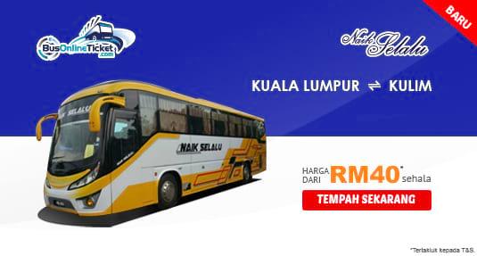 Naik Selalu Express menawarkan perkhidmatan bas baru antara KL dan Kulim