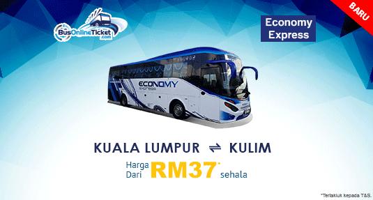 Economy Express Menawarkan Bas Antara Kuala Lumpur dan Kulim