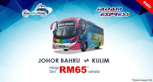 Jadam Express provides bus between Johor Bahru and Kulim Malay Banner Image