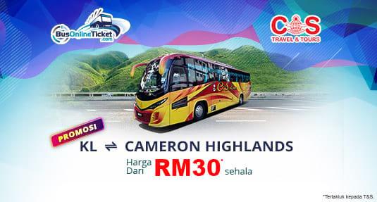 Nikmati Tawaran Istimewa Untuk Bas Antara Kuala Lumpur dan Cameron Highlands Bersama CS Travel