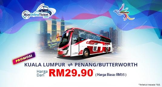 Promosi bas GJG Express dari KL ke Penang dan Butterworth