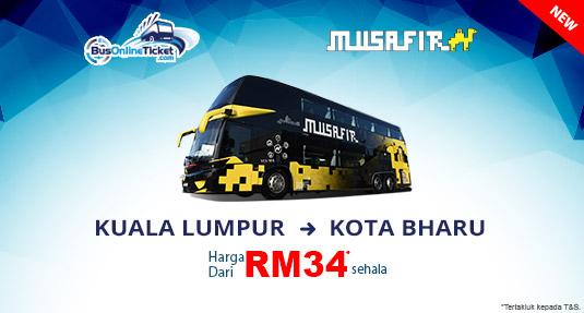 Ekspres Musafir Bas dari Kuala Lumpur ke Kota Bharu