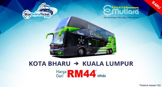 Perkhidmatan Bas E-Mutiara Dari Kota Bharu ke Kuala Lumpur