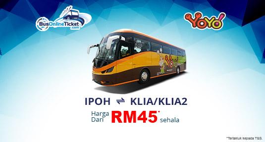 Bas Yoyo Express antara Ipoh dan KLIA atau KLIA2