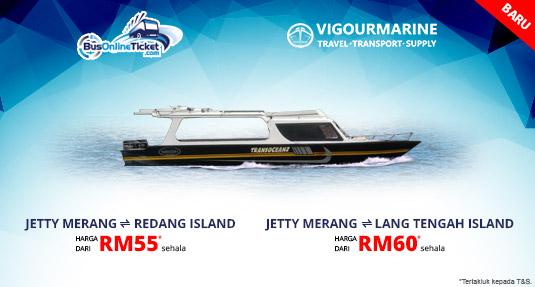 Feri ke Pulau Redang atau Pulau Lang Tengah dari Jeti Merang dengan Vigourmarine