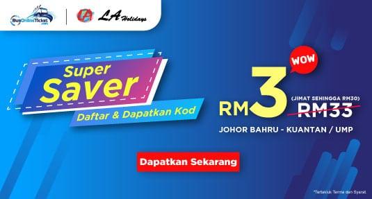 Super Saver! Tiket Bas LA Holidays dari RM3