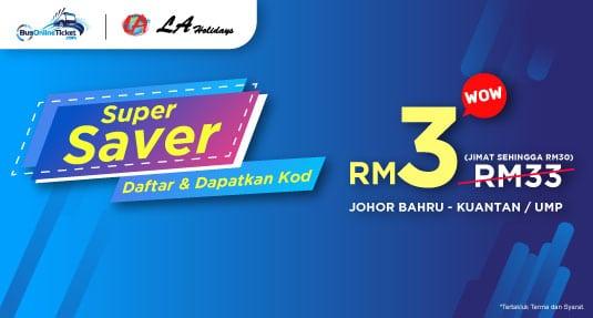 Promosi Tiket Bas LA Holidays RM3
