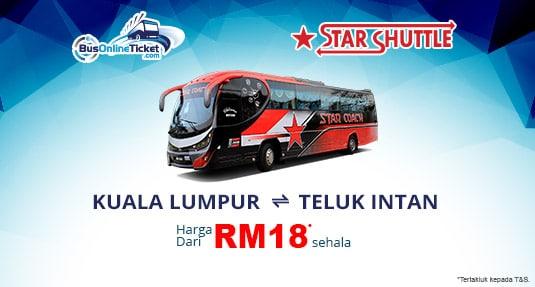 Star Coach Bas dari Kuala Lumpur TBS ke Teluk Intan