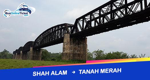 Bas dari Shah Alam ke Tanah Merah