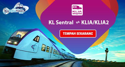 Tiket KLIA Ekspres Sekarang Tersedia di BusOnlineTicket.com
