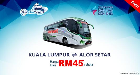Bas Suasana Holiday dari Kuala Lumpur TBS ke Alor Setar