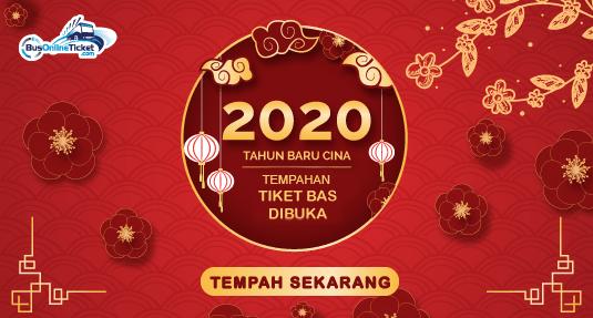 Tiket Bas Tahun Baru Cina 2020 Kini Dibuka untuk Tempahan Online