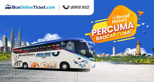 Tempah Tiket Bas Supernice Grassland & Dapatkan Bread History RM5 Baucar Tunai