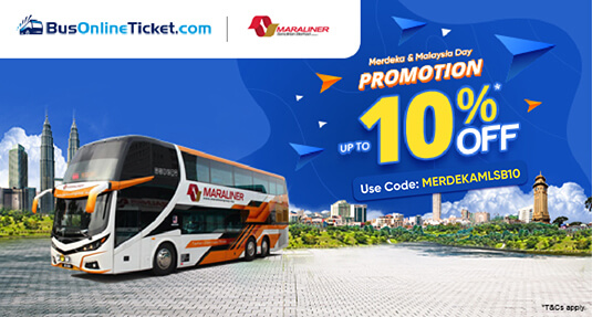 Promosi tiket bas MARA Liner dengan 10% DISKAUN