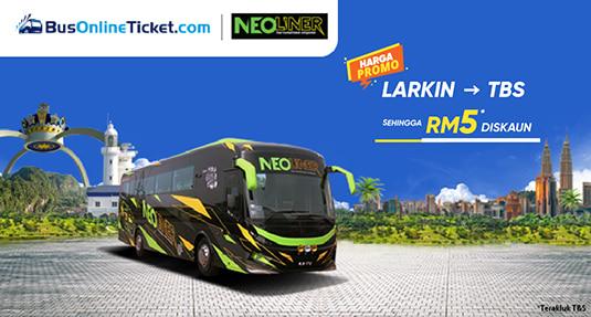 Neoliner Express PROMO RM29.50 Bas dari Larkin ke TBS